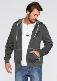Sweatjacke Regular Fit, John Baner JEANSWEAR, anthrazit meliert