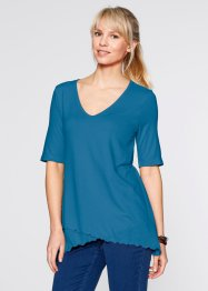 Halbarm-Shirt im Lagenlook, bpc bonprix collection, atlantikblau