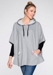 Sweat-Poncho, bpc bonprix collection, hellgrau meliert