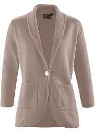 Premium Cardigan aus Pima-Cotton, bpc selection premium, taupe