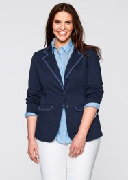 Sweat Blazer Ceket, bpc bonprix collection, lacivert/mavi