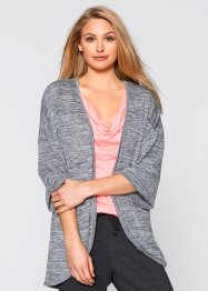 Jersey-Shirtjacke, bpc bonprix collection, grau meliert