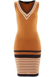 Strickkleid, bpc selection, bronze/dunkelblau