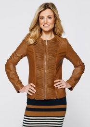 Lederimitatjacke, bpc selection, bronze