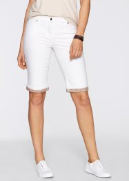 Bermuda-Stretchhose, bpc bonprix collection, weiss