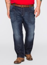 Jeans im Regular Fit Straight, John Baner JEANSWEAR, dunkelblau