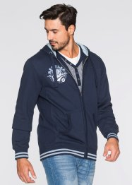Sweatjacke m. Kapuze Regular Fit, bpc bonprix collection, dunkelblau