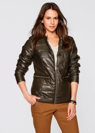 Veste simili cuir, bpc bonprix collection, marron olive
