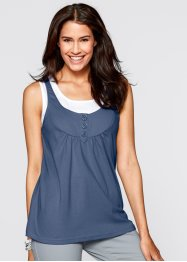2-in-1-Top, bpc bonprix collection, indigo