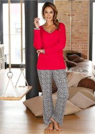Pyjama, bpc bonprix collection, rot/leo