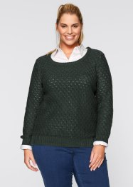 Pullover, bpc bonprix collection, russisch grün