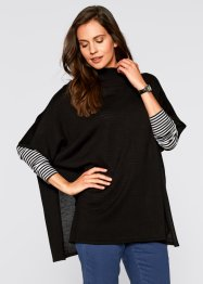 Strick-Poncho, bpc bonprix collection, schwarz