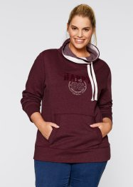 Sweatshirt, bpc bonprix collection, ahornrot meliert bedruckt