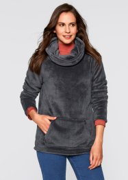 Fleece-Pullover, bpc bonprix collection, schiefergrau