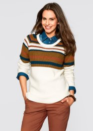 Pullover, bpc bonprix collection, wollweiß gemustert