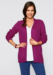 Offene Strickjacke, bpc bonprix collection, violettorchidee