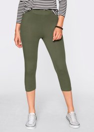 Stretch-Caprileggings, bpc bonprix collection, oliv/schwarz