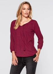 Shirt- Tunika, 3/4 Arm, bpc bonprix collection, bordeaux