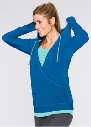 Sweatshirt in Wickeloptik, bpc bonprix collection, atlantikblau