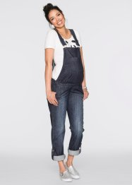Umstands-Latzjeans, gerades Bein, bpc bonprix collection, darkblue stone