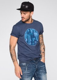 T-Shirt Slim Fit, RAINBOW, blau meliert