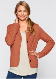 Sweatblazer, bpc bonprix collection, zimt