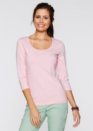 Stretch-Shirt mit 3/4-Arm, bpc bonprix collection, dunkelblau