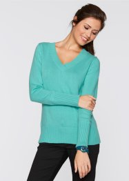 Basic Baumwollstrick-Pullover, bpc bonprix collection, weiss