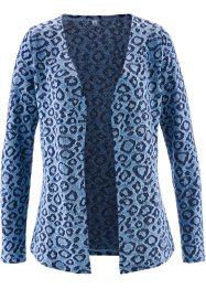 Strickjacke, bpc selection, indigo/hellblau