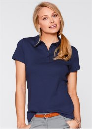 Basic Baumwollshirt Rib-Jersey, bpc bonprix collection, dunkelblau