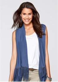 Shirt-Weste mit Fransen, bpc bonprix collection, indigo