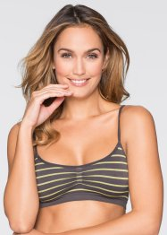 Seamless- Bustier, bpc bonprix collection, grau/ gelb