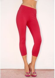 Capri-Leggings (2er-Pack), BODYFLIRT, chillirot/schwarz