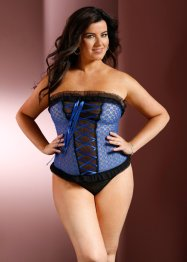 Top+String (2tlg. Set), royal/schwarz