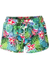 Strandshorts, bpc bonprix collection, grün bedruckt