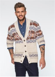 Strickjacke Slim Fit, RAINBOW, beige meliert