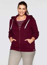 Sweatjacke, bpc bonprix collection, ahornrot