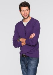 Pullover in 2-in-1-Optik Regular Fit, bpc bonprix collection, weinbeere