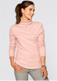 Rollkragen-Pullover, bpc bonprix collection, perlrosa