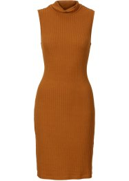 Kleid in Rippenstrick-Optik, BODYFLIRT, bronze