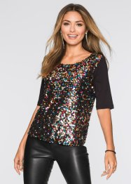 Pailletten-Shirt, BODYFLIRT, multicolor