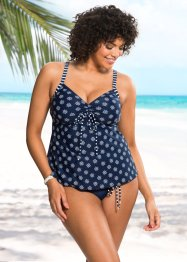 Tankini, bpc bonprix collection, dunkelblau/weiß