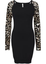 Strickkleid, BODYFLIRT boutique, leopard schwarz