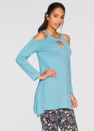 Shirt-Tunika mit Cut-Outs, BODYFLIRT, softblue