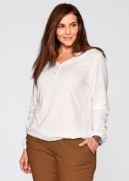 Langarm-Stretchshirt, bpc bonprix collection, lachsrosa