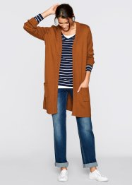 Langarm-Long-Strickjacke, bpc bonprix collection, bronze