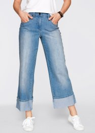 Loose-Fit-Stretch-Jeans in verkürzter Form, bpc bonprix collection, medium blue bleached