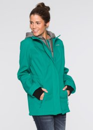 Softshell-Langjacke in 2-in-1-Optik, bpc bonprix collection, dunkelsmaragd