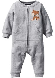 Baby Sweat-Overall Bio-Baumwolle, bpc bonprix collection, hellgrau meliert