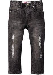 Jeans im Destroyed Look, John Baner JEANSWEAR, anthracite denim used